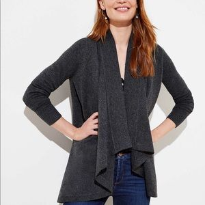 Loft charcoal grey open cardigan medium